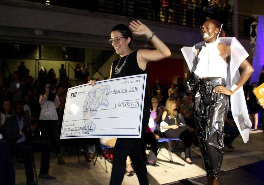 Only Recycled Materials Applied In FIU Graduate's Style Show